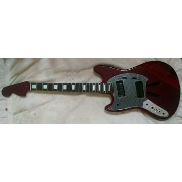 """Custom LEFT Handed 25.5"""" scale length Mustang style parts - Body/Neck/Pickguard"""
