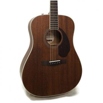 Custom Fender PM-1 Standard All Mahogany Paramount Series Dreadnought Acoustic Guitar w/ Case