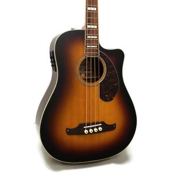 Custom Fender Kingman Bass SCE Dreadnought Cutaway Acoustic-Electric Bass w/ Case - 3-Color Sunburst