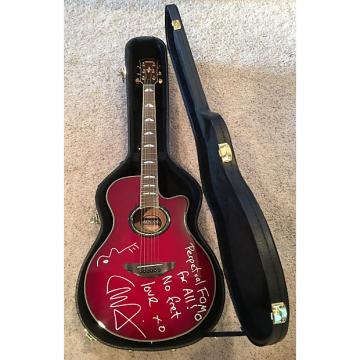 Custom Liam Finn AUTOGRAPHED Yamaha APX900 Acoustic/Electric Cutaway Guitar 2010 Crimson Red Burst
