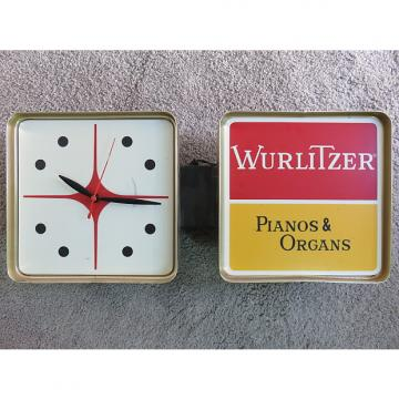 Custom Rare Original Vintage Wurlitzer Organ Guitar Store Dealer Light Sign Works Hammond Vox