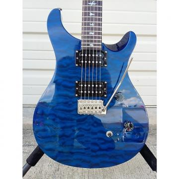 Custom PRS SE Custom 24  Quilted maple top in Royal Blue 25th Anniverary model