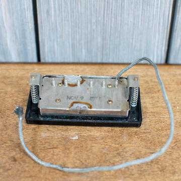Custom Gibson Stamped 1977 Patent Number T-Top Pickup w/ Ring
