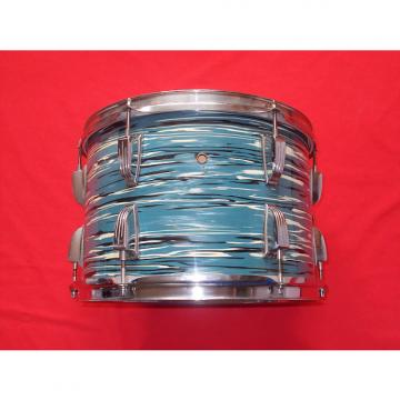 "Custom Vintage 1970s Ludwig 13"" Oyster Blue 3-Ply Tom Drum"