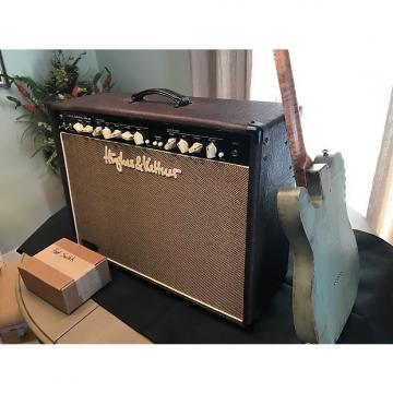 Custom Hughes & Kettner Statesman 6L6 2x12 Oxblood guitar combo amp with cover Vintage Fender style tone