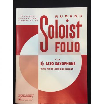 Custom Rubank Soloist Folio For Eb Alto Saxophone