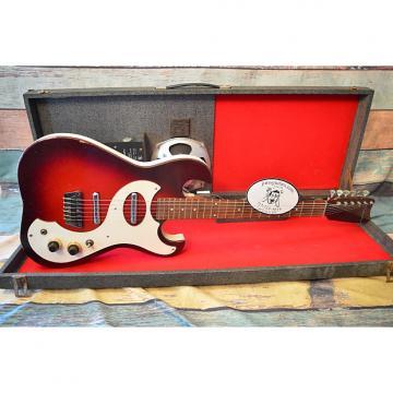 Custom Silvertone Model 1457 Amp in Case 1964 Red Burst