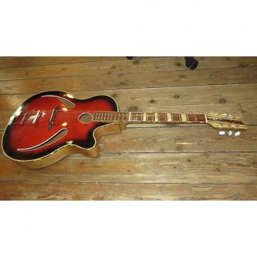 Custom Vintage 1960's Penzel Cats Eye Archtop Acoutic Guitar Perfect Action Made In Germany w/ Gig Bag