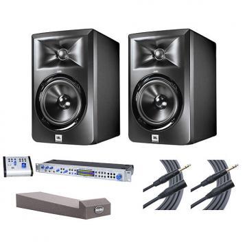 Custom 2x JBL LSR305 + Central Station PLUS + MoPADs + Mogami Cables