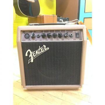 Custom Fender Acoustasonic 15 Black/Tan