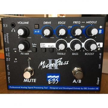 Custom EBS MicroBass II Black Label Bass Preamp/DI Box /AB Box/Headphone Amp w/ Box Aguilar Sadowsky Ampeg