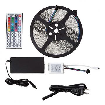 Custom MARQ BrightStrip 5-300S Waterproof Flexible LED Light Strip - with Power Supply & Remote