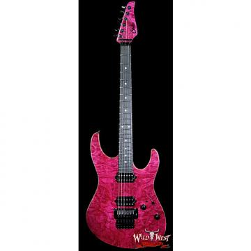 Custom Suhr Modern Burl Maple Top Floyd Bridge HH Magenta Pink