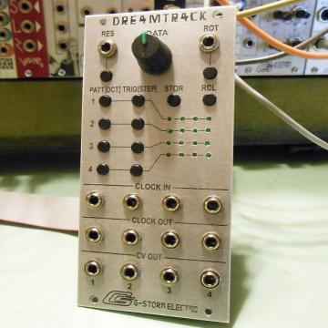 Custom G-Storm Electro DRE4MTR4CK Eurorack Sequencer Module (dreamtrack)