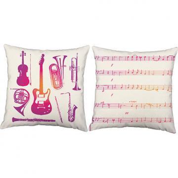 Custom Pink Instruments - RoomCraft Throw Pillows