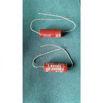Custom Good-All .02 (2) vintage capacitor set for les paul or humbuckers 1960's (RED)