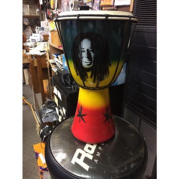 Custom Bob Marley djembe drum Djembe drum African colors with marijuana plant