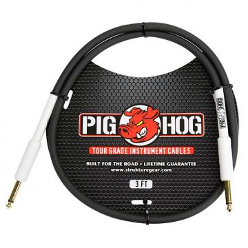 "Custom Pig Hog 3ft 1/4"" to 1/4"" Instrument Cable w/ FREE SAME DAY SHIPPING"