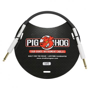 """Custom Pig Hog 1ft 1/4"""" to 1/4"""" Instrument Cable w/ FREE SAME DAY SHIPPING"""