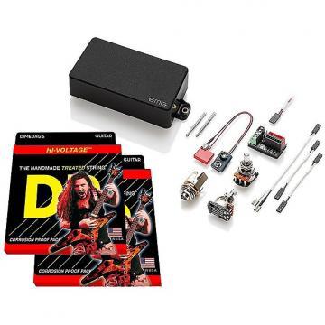 Custom EMG 60 Active Humbucker, Black, w 2 sets DR Strings Dimebag Hi-Voltage 9-46