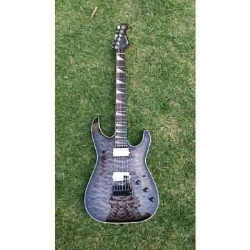 Custom 2015 Custom Warmoth Stratocaster Jackson Soloist Quilted Maple translucent black