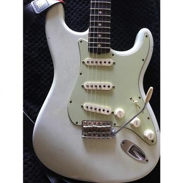 Custom Fender custom shop 1961 stratocaster jouneyman relic Olympic white with matching headstock
