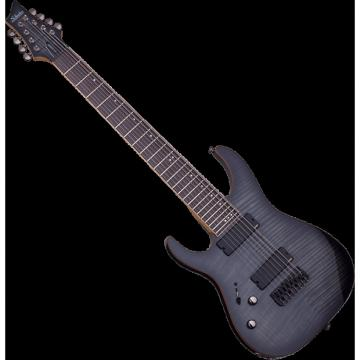 Custom Schecter Banshee-8 Active Left-Handed Electric Guitar Trans Black Burst