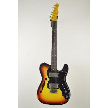Custom Nash T-72 3 Tone Sunburst Tele thinline dual lollar wide range humbuckers 6.5 pounds Lightweight