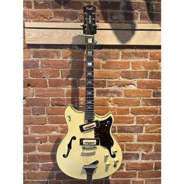 Custom Kent 820 Thinline 1967 Vintage White Electric Hollow Guitar