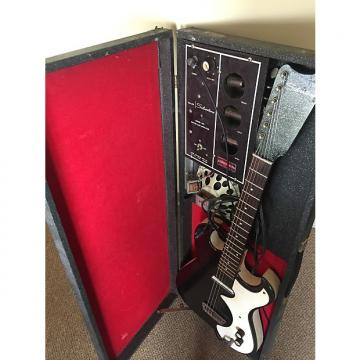 Custom Silvertone 1448 With Case Amp 1960s Black Sparkle- All Original Working