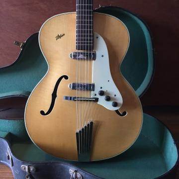 Custom 1958 Hofner Senator Blonde w Goldentone Model 1707 pickups
