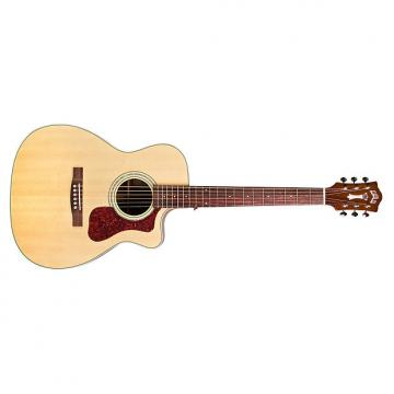 Custom Guild OM-140CE Westerly Orchestra CE Cutaway Acoustic Guitar Natural + Case