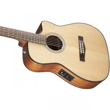 Custom Fender CF-140SCE Cutaway Folk Acoustic-Electric Guitar