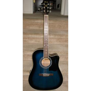 Custom Ibanez V70CE Blueburst Acoustic Electric Guitar