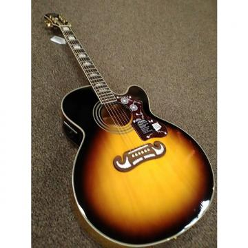 Custom Epiphone EJ-200SCE Southern Jumbo Acoustic/Electric Guitar Gloss Tobacco Sunburst