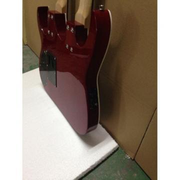 Custom Ibanez JEM 7V Red Double Neck Acoustic Electric 6 12 Strings Guitar