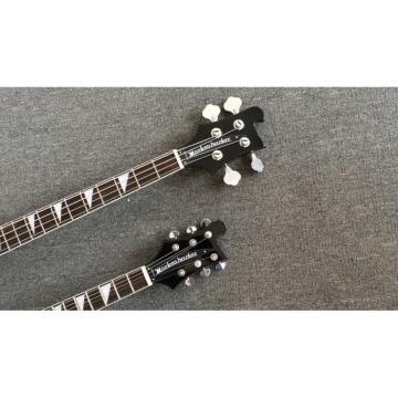 Custom Shop 4080 Double Neck Geddy Lee Black 4 String Bass 6/12 String Option Guitar