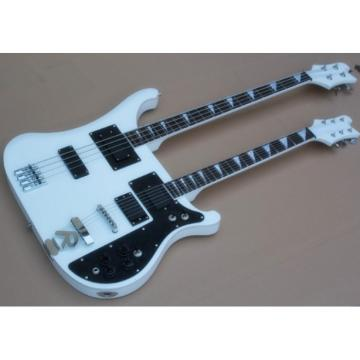 Custom Shop 4003 Double Neck White 4 String Bass 6 String Guitar