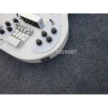 Custom Shop 4003 Double Neck White 4 String Bass 12 String Guitar