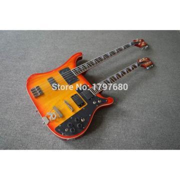 Custom Shop 4003 Double Neck Fireglo 4 String Bass 6 String Guitar