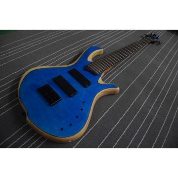 Custom Mayones Built 5 String Blue Bass