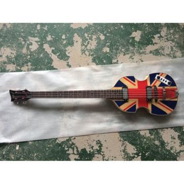 Custom Hofner Jubilee Union Jack Paul Mcartney Violin Bass Guitar