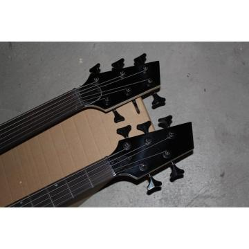 Custom Double Neck Black 5 6 Strings Bass