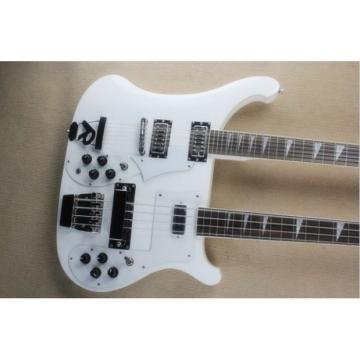 Custom 4003 Double Neck Rickenbacker White Bass