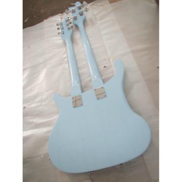 Custom 4003 Double Neck Rickenbacker Light Blue 4 String Bass 6 String Guitar Bolt On