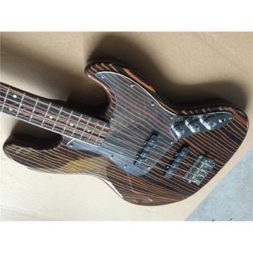 Custom Fender Zebra Wood Geddy Lee Jazz Bass 4 String