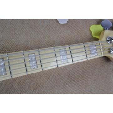 Custom Fender Ash Wood Blue Geddy Lee Jazz Bass Guitar