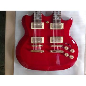 LP Red Custom EDS 1275 Double Neck Electric Guitar