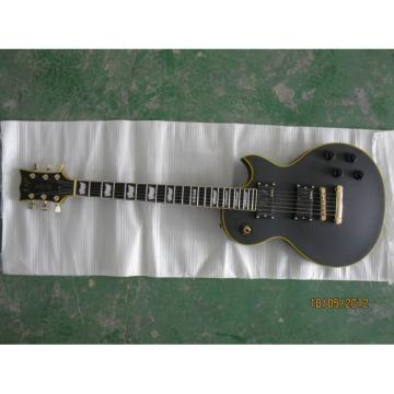 Custom Shop ESP Matt Finish Black Electric Guitar