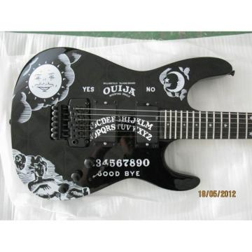 Custom Shop KH2OUIJA Kirk Hammett Ouija Black Opera Electric Guitar